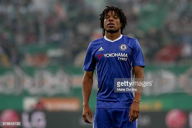 Loic Remy of Chelsea in action during an friendly match between SK Rapid Vienna and Chelsea FC at Allianz Stadion on July 16 2016 in Vienna Austria