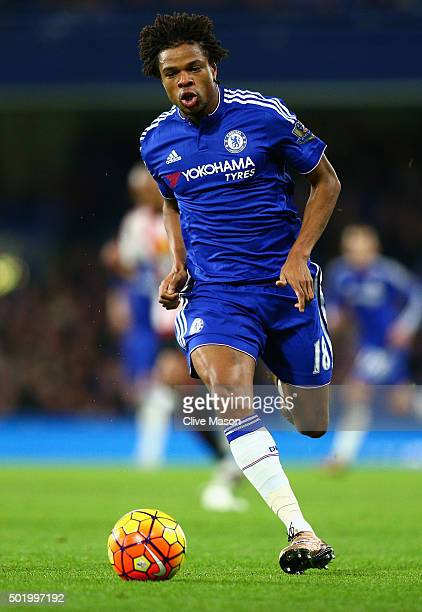 Loic Remy of Chelsea in action during the Barclays Premier League match between Chelsea and Sunderland at Stamford Bridge on December 19 2015 in...