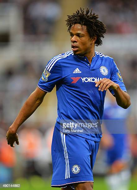 Loic Remy of Chelsea looks on during the Barclays Premier League match between Newcastle United and Chelsea at St James' Park on September 26 2015 in...