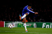 Loic Remy of Chelsea scores the opening goal during the UEFA Champions League Group G match between Chelsea FC and NK Maribor at Stamford Bridge on...