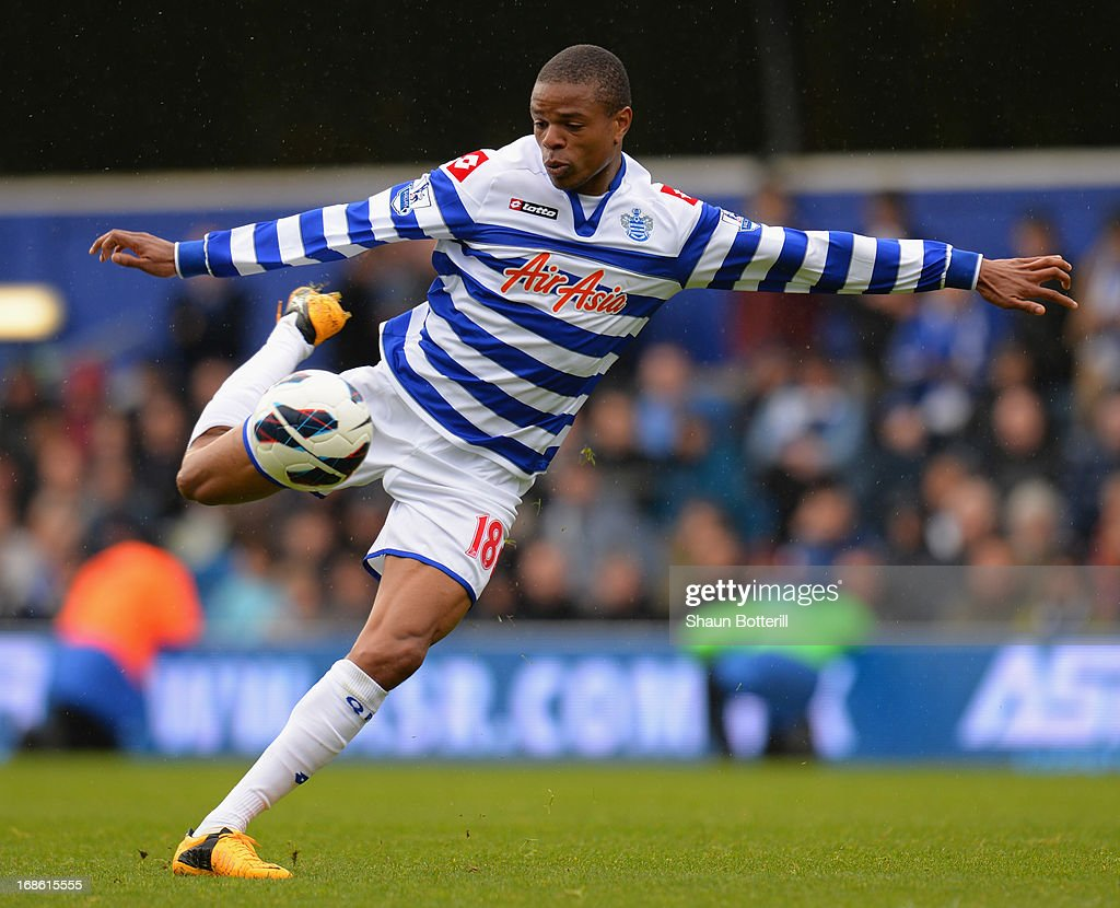 Loic Remy of Queens Park Rangers during the Premier League match between Queens Park Rangers and Newcastle United at Loftus Road on May 12, 2013 in London, England.