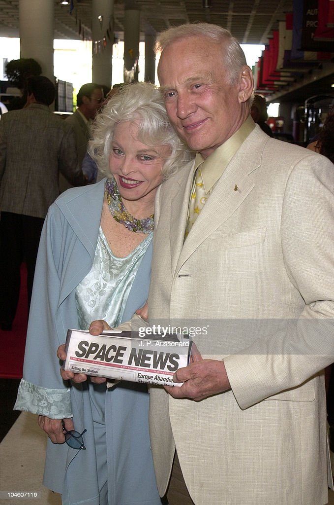 Lois Aldrin and Buzz Aldrin during 4th Cars & Stars Gala at Petersen Automotive Museum in Los Angeles, California, United States.