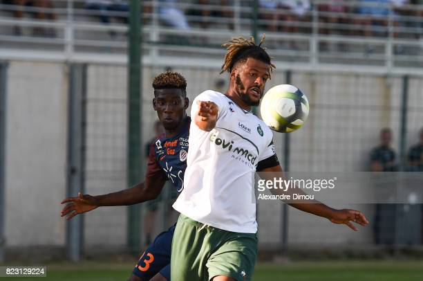 Lois Diony of Saint Etienne and Isaac Mbenza of Montpellier during the Friendly match between Montpellier and Saint Etienne on July 26 2017 in...
