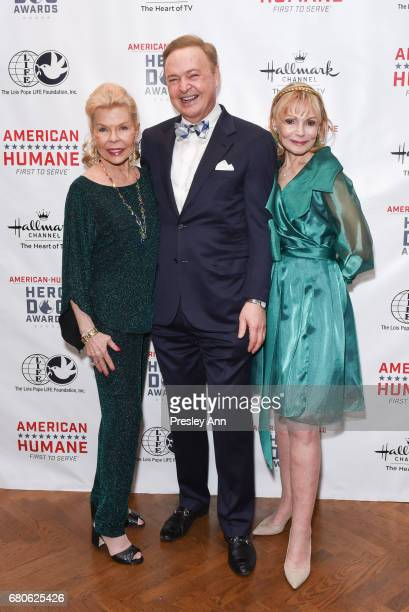 Lois Pope Alex Donner and Ronnie Perl attend 2017 American Humane Hero Dog Awards at The National Arts Club on May 8 2017 in New York City