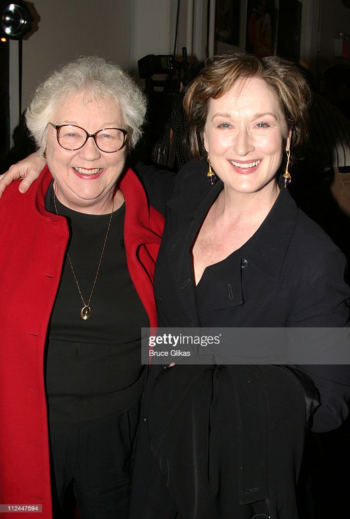 Lois Smith and Meryl Streep during Opening Night of 'Bridge and Tunnel' OffBroadway at 45 Bleeker Theater in New York New York United States