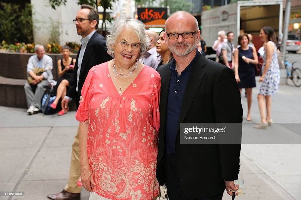 Lois Smith and Michael Wilson attend 'The Unavoidable Disappearance Of Tom Durnin' Opening Night at Laura Pels Theatre on June 27 2013 in New York...
