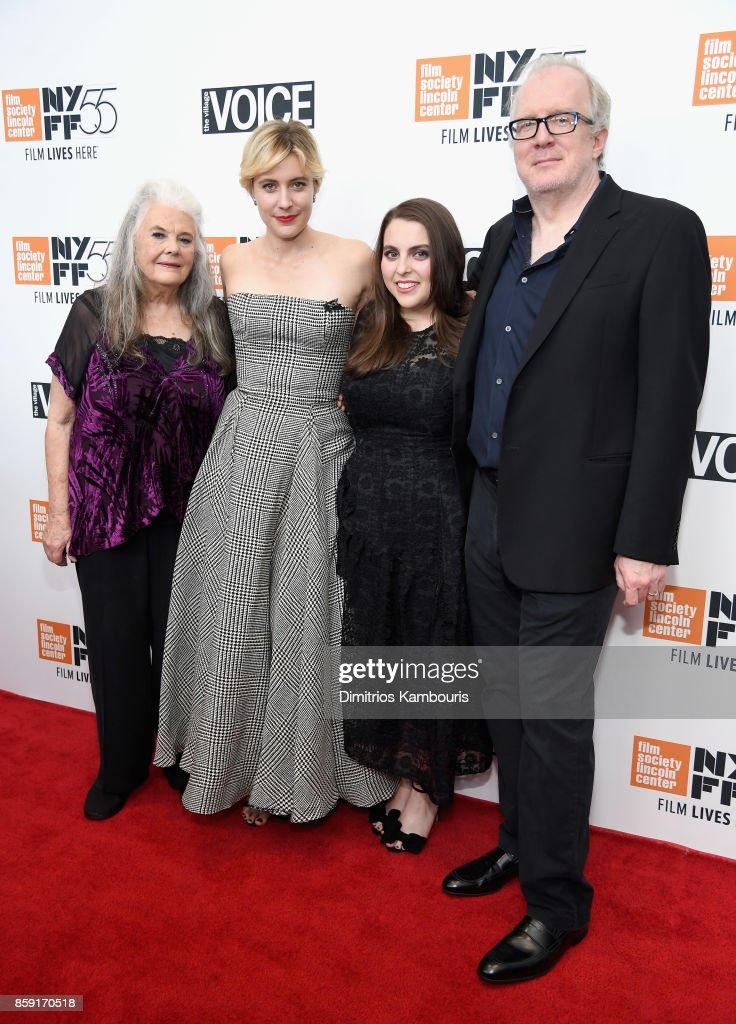 Lois Smith, Greta Gerwig, Beanie Feldstein, and Tracy Letts attend 55th New York Film Festival screening of 'Lady Bird' at Alice Tully Hall on October 8, 2017 in New York City.