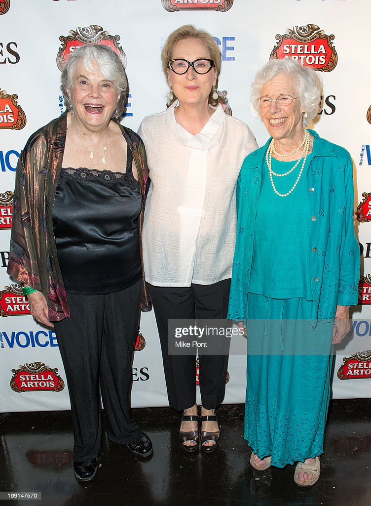 Lois Smith Meryl Streep and Frances Sternhagen attend the 2013 Obie Awards at Webster Hall on May 20 2013 in New York City