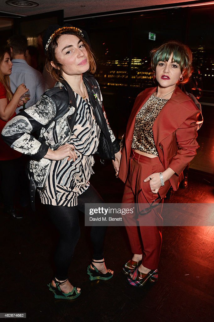 Lois Winstone and Jaime Winstone attend the InStyle and EE Rising Star Party in association with Lancome Karen Millen and Sky Living at The Ace Hotel...
