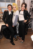 Lois Winstone Pam Hogg and Jaime Winstone at the Future Factory launch party with Malibu Rum on May 8 2014 in London England