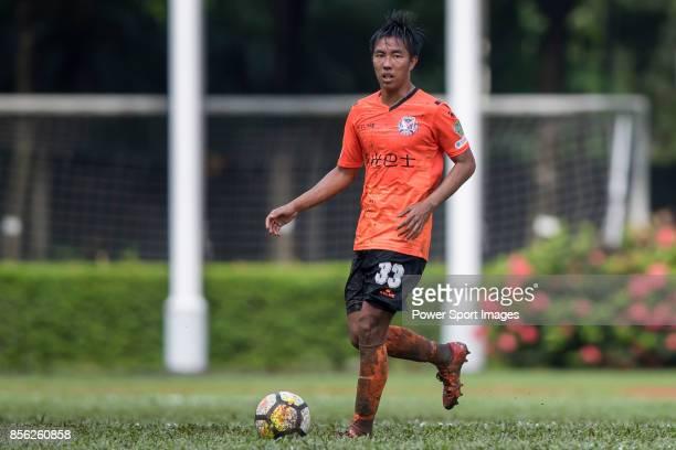 Lok Hin Tam of Sun Bus Yeun Long in action during the Hong Kong Premier League Week 4 match between BC Rangers vs Sun Bus Yuen Long at the Sham Shui...