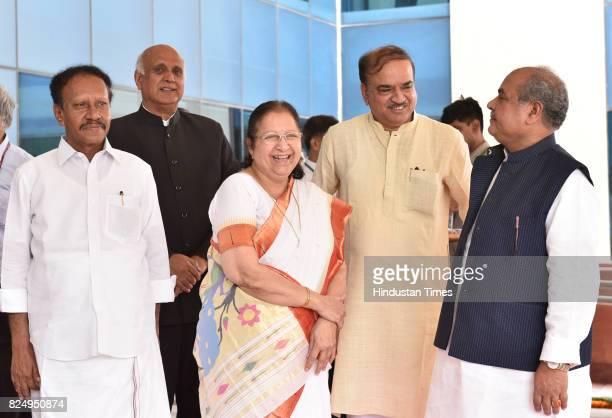 Lok Sabha Speaker Sumitra Mahajan her deputy M Thambidurai Parliamentary Affairs Minister Ananth Kumar Housing and Urban Development Minister...