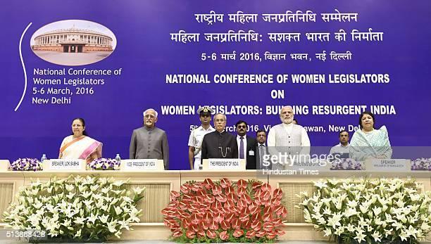 Lok Sabha Speaker Sumitra Mahajan Vice President of India Mohammad Hamid Ansari President Pranab Mukherjee Prime Minister Narendra Modi and...