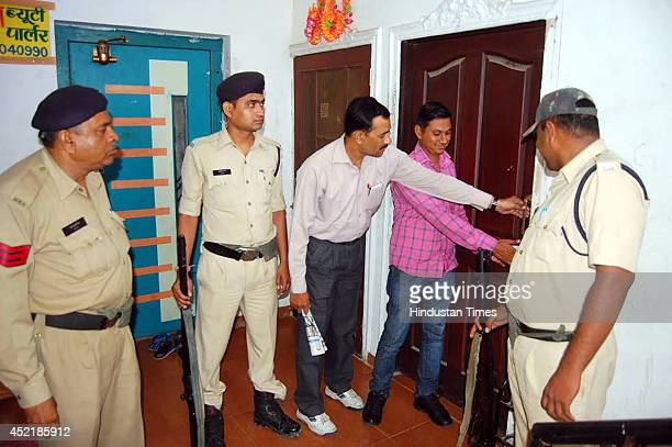 Lokayukta police sealing the residence of Babulal Patel after raid on July 15 2014 in Indore India Babulal Patel is a clerk posted in a Janpad...