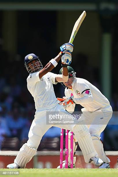 Lokesh Rahul of India bats during day three of the Fourth Test match between Australia and India at Sydney Cricket Ground on January 8 2015 in Sydney...