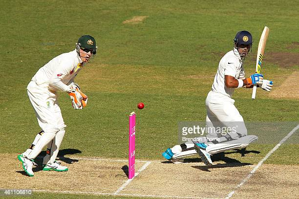 Lokesh Rahul of India bats during day two of the Fourth Test match between Australia and India at Sydney Cricket Ground on January 7 2015 in Sydney...