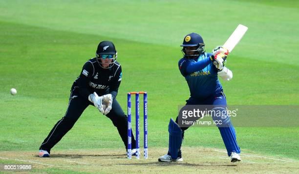 Lokusuriyage Kaushalya of Sri Lanka bats during the ICC Women's World Cup 2017 match between New Zealand and Sri Lanka at the Brightside Ground on...