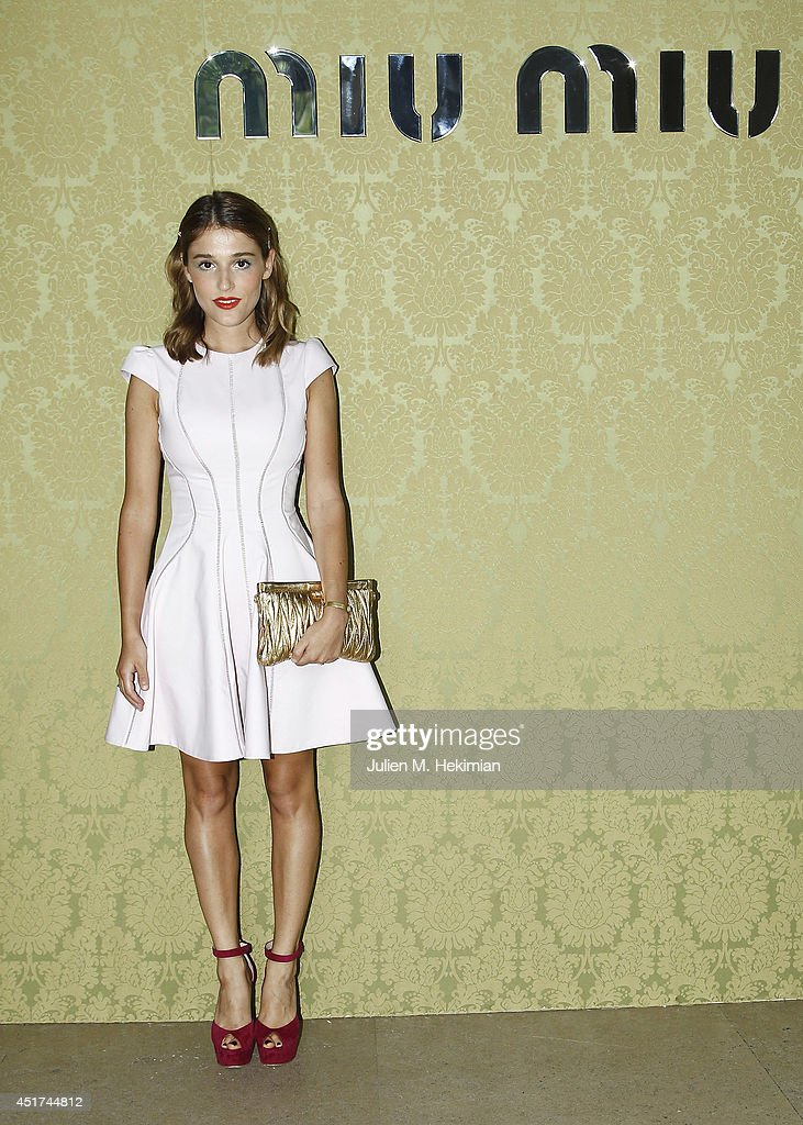 Lola Bessis attends the Miu Miu Resort Collection 2015 at Palais d'Iena on July 5, 2014 in Paris, France.