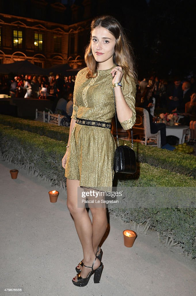 Lola Bessis attends Tory Burch Paris Flagship Opening after party at on July 7, 2015 in Paris, France.