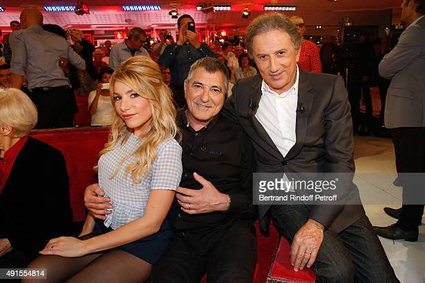 Lola Bigard her husband Main guest of the Show JeanMarie Bigard and Presenter of the show Michel Drucker attend the 'Vivement Dimanche' French TV...