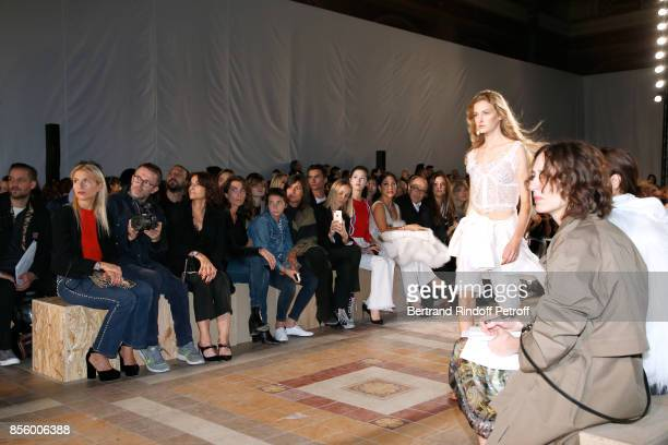 Lola BursteinRykiel Loic Prigent Nathalie Rykiel and Mademoiselle Agnes Boulard attend the Sonia Rykiel show as part of the Paris Fashion Week...