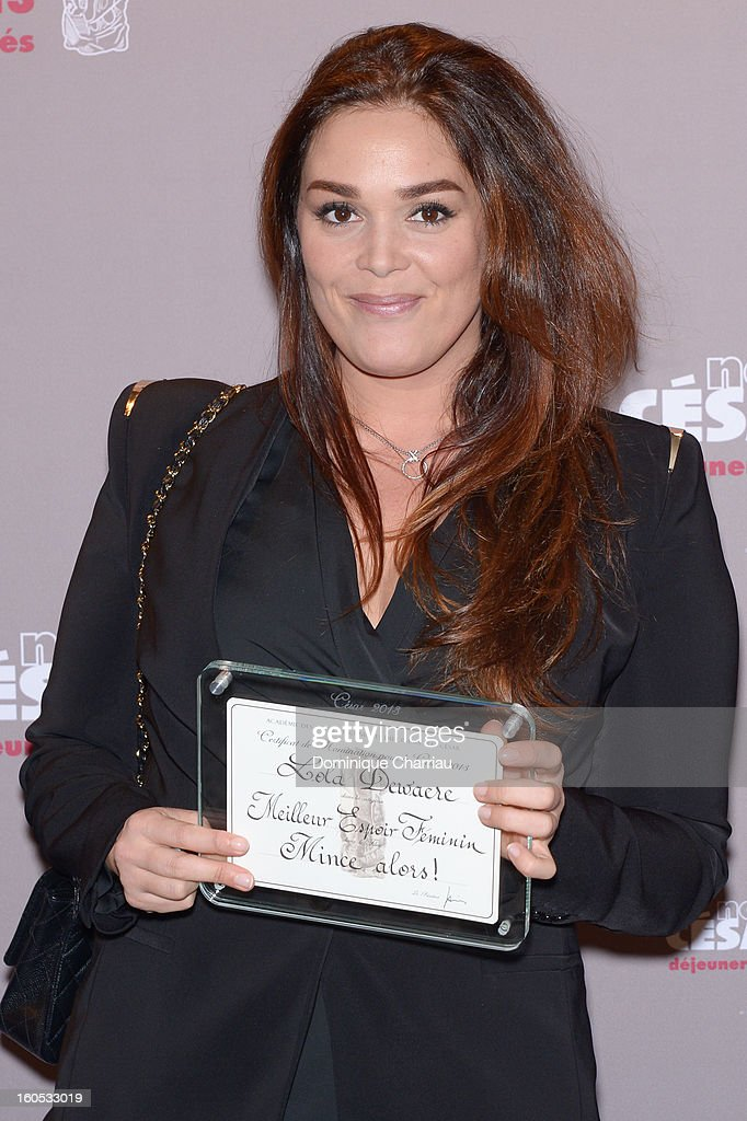 Lola Dewaere attends the Cesar 2013 Nominee Lunch at Le Fouquet's on February 2, 2013 in Paris, France.