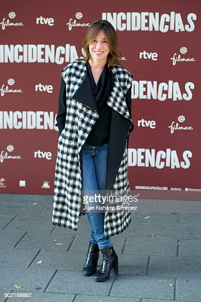 Lola Duenas attends 'Incidencias' photocall at Paz Cinema on December 21 2015 in Madrid Spain