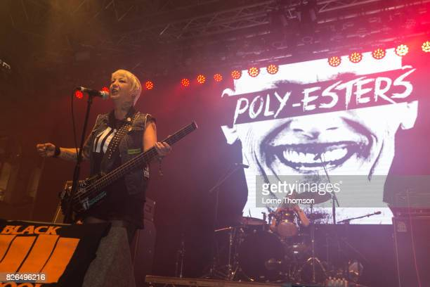 Lola Fenix of The PolyEsters performs at Rebellion Festival at Winter Gardens on August 4 2017 in Blackpool England