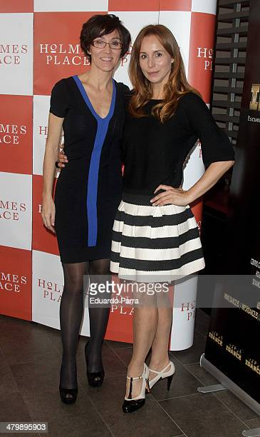 Lola Gonzalez and Mar Regueras attend 'iDance' opening photocall at Holmes Palace on March 21 2014 in Madrid Spain