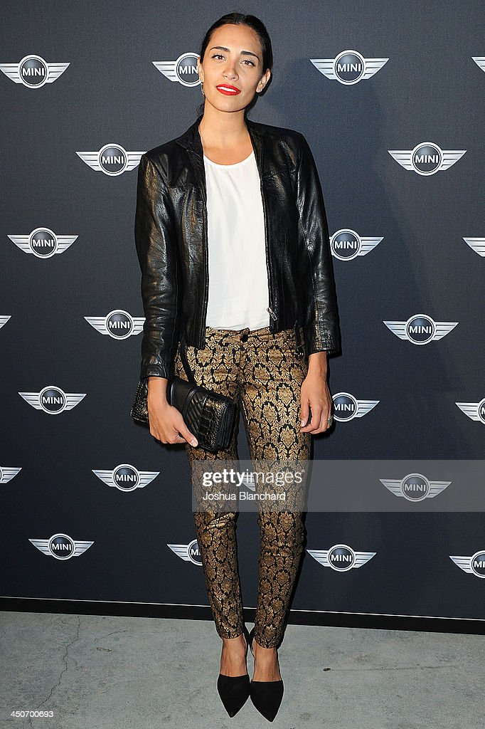 DJ Lola Langusta arrives at the Kim Sing Theatre for MINI Cooper Unveils Newest Addition To The MINI Fleet During Los Angeles Auto Show on November 19, 2013 in Los Angeles, California.