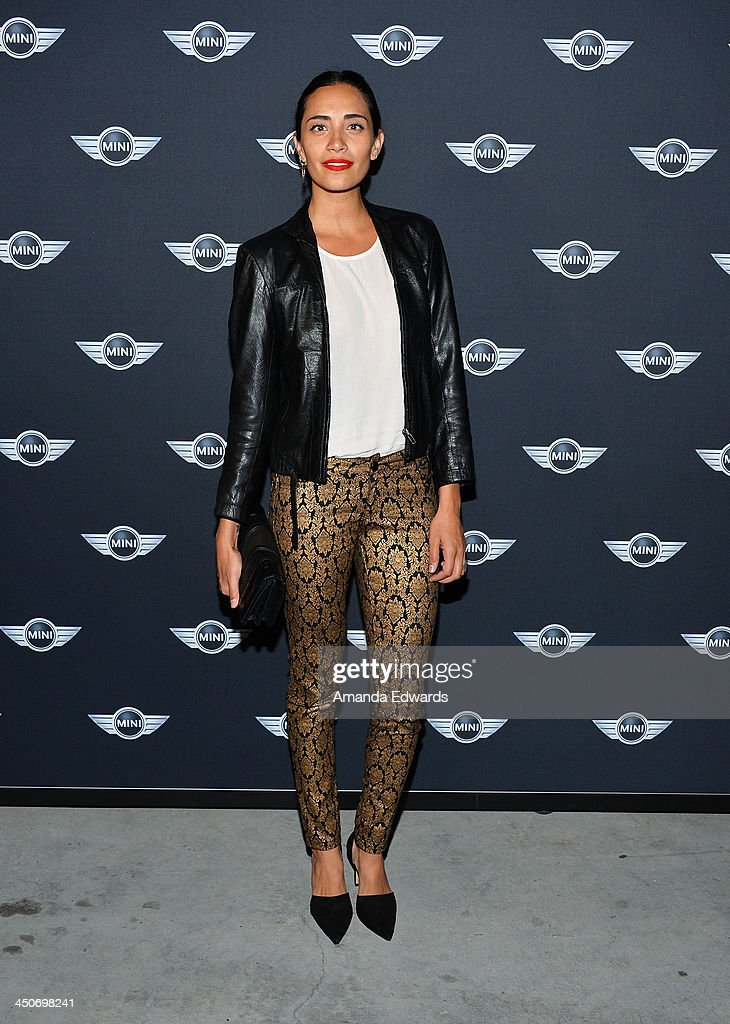DJ Lola Langusta arrives at the MINI Cooper red carpet premiere on November 19, 2013 in Los Angeles, California.