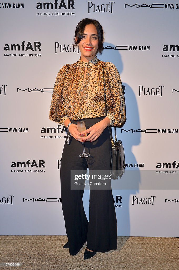 DJ Lola Langusta attends the amfAR Inspiration Miami Beach Party at Soho Beach House on December 6, 2012 in Miami Beach, Florida.