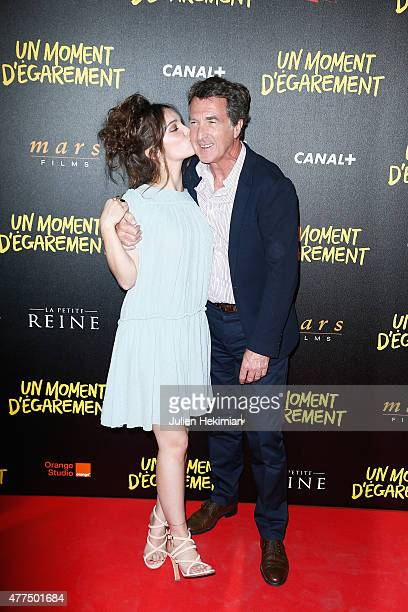 Lola Le Lann and Francois Cluzet attend Un Moment D'Egarement Premiere at Gaumont Capucines on June 17 2015 in Paris France