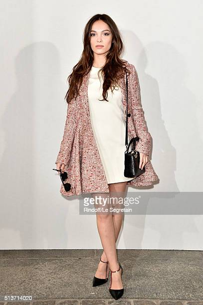 Lola Le Lann attends the Christian Dior show as part of the Paris Fashion Week Womenswear Fall/Winter 2016/2017 on March 4 2016 in Paris France