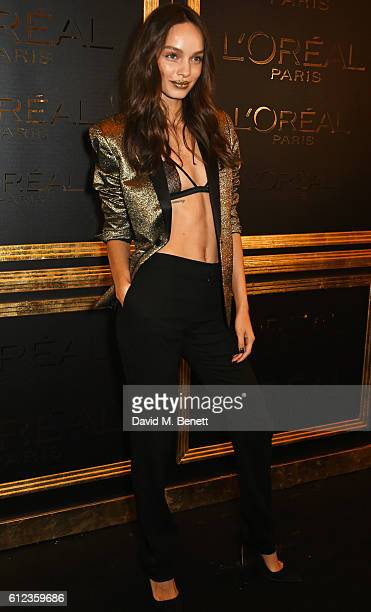 Lola Le Lann attends the L'Oreal Paris Gold Obsession Party at Hotel de la Monnaie on October 2 2016 in Paris France