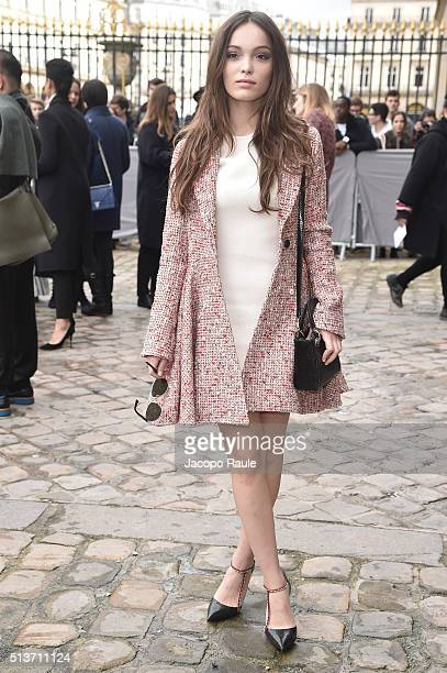 Lola Le Lann is seen arriving at Dior fashion show during Paris Fashion Week Womenswear Fall Winter 2016/2017 on March 4 2016 in Paris France