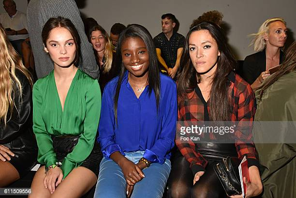 Lola Le Lann Karidja Toure and Mai Lan attend the Barbara Bui show as part of the Paris Fashion Week Womenswear Spring/Summer 2017 on September 29...