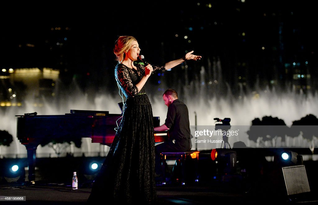 Lola Lennox performs on stage at the Gala Event during the Vogue Fashion Dubai Experience on October 31, 2014 in Dubai, United Arab Emirates.
