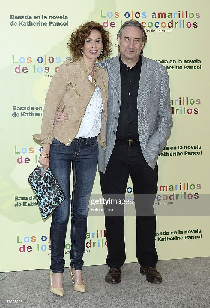 Lola Marceli and Juanjo Puigcorbe attend the 'Los Ojos Amarillos de los Cocodrilos' premiere the Academia del Cine on April 30, 2014 in Madrid, Spain.