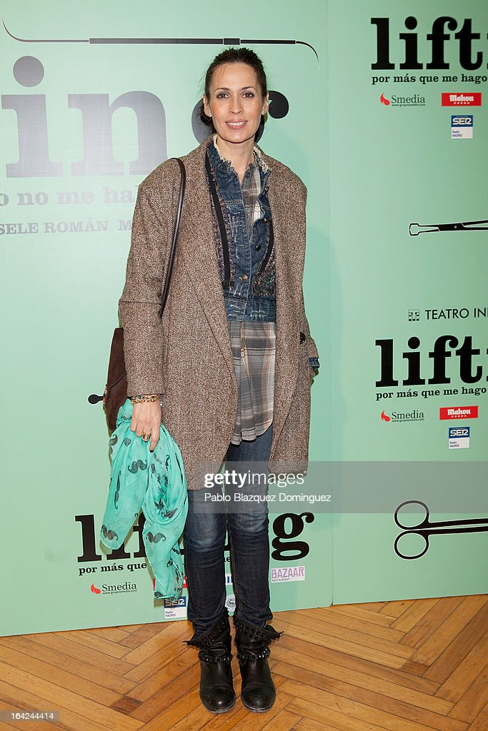 Lola Marceli attends the 'Lifting' premiere at Infanta Isabel Theatre on March 21, 2013 in Madrid, Spain.