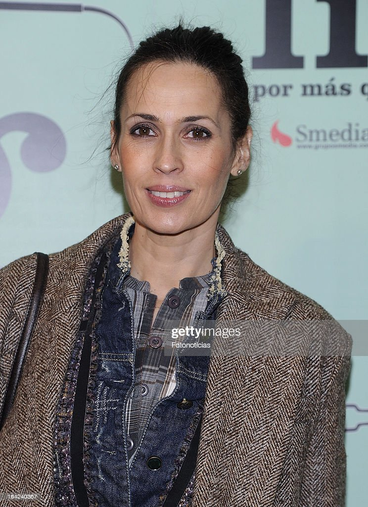 Lola Marceli attends the premiere of 'Lifting' at the Infanta Isabel theatre on March 21, 2013 in Madrid, Spain.