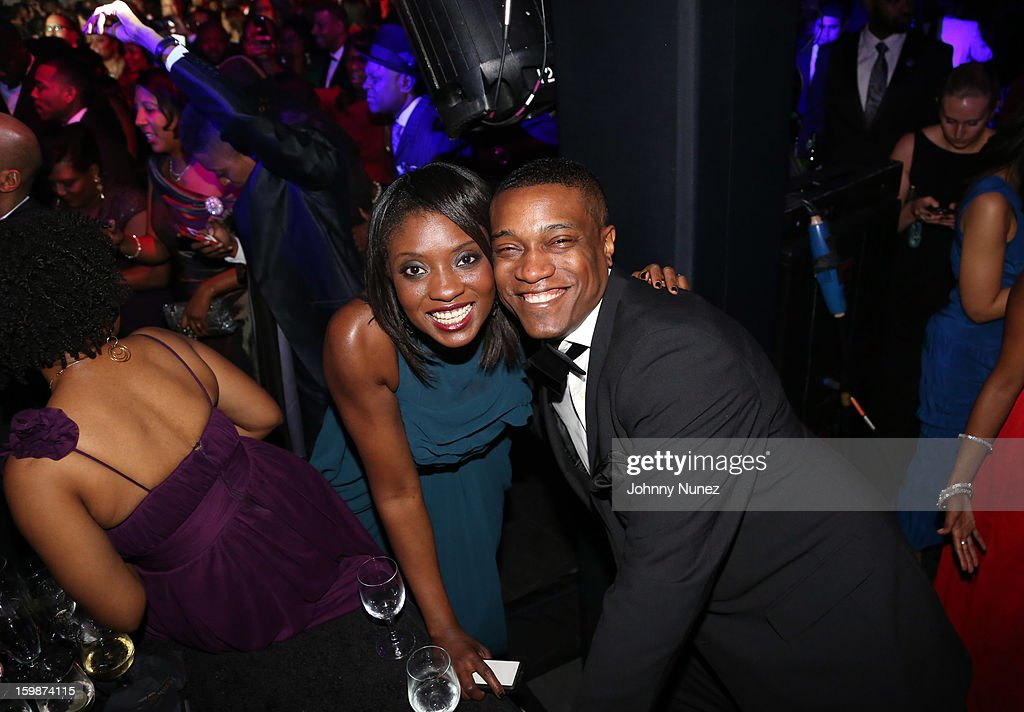 Lola Ogunnaike and Jon Marc Sandifer attend the 2013 BET Networks Inaugural Gala at Smithsonian National Museum Of American History on January 21, 2013 in Washington, United States.