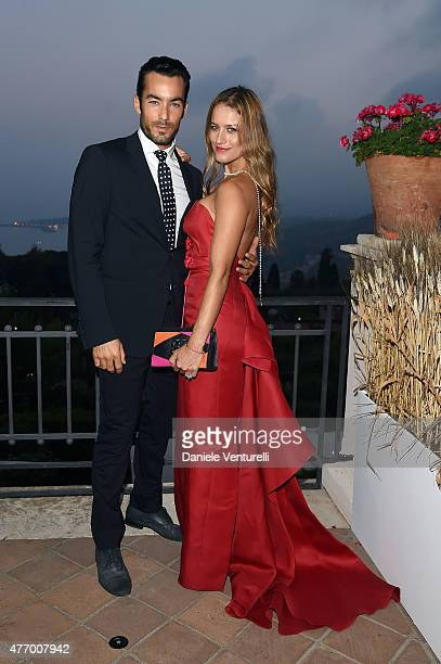 Lola Ponce and Aaron Diaz attend Day 1 of the 61th Taormina Film Fest on June 13 2015 in Taormina Italy
