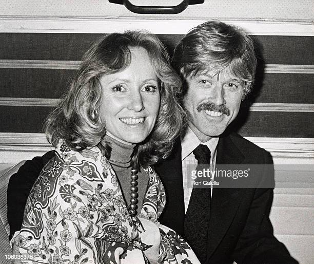 Lola Redford and Robert Redford during 'A Future With Alternatives' Symposium May 5 1978 at St John the Devine Cathedral in New York City New York...