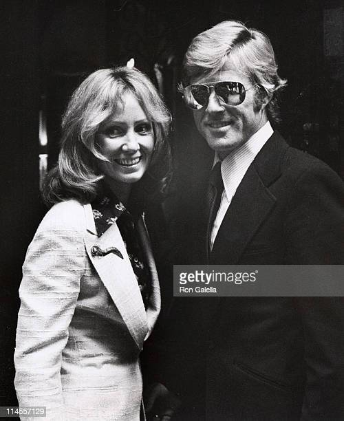 Lola Redford and Robert Redford during Mary Lasker's Cocktail Party for Wayne Owens May 15 1974 at Harrison's Residence in Washington DC Washington...