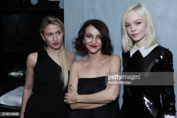 Lola Rykiel Nathalie Rykiel and Siri Toller¯d attend SONIA RYKIEL POUR HM Exclusive Preview at Bobo on February 4 2010 in New York City