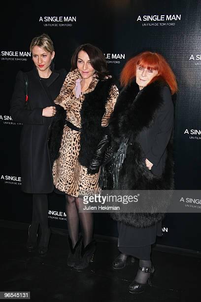 Lola Rykiel Nathalie Rykiel and Sonia Rykiel attend the 'A Single Man' Paris premiere at Cinema UGC Normandie on February 9 2010 in Paris France