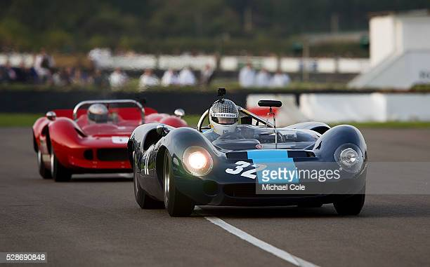 LolaChevrolet T70 Spyder driven by Andrew Smith in The Whitsun Trophy at The Goodwood Revival Meeting 13th Sept 2014