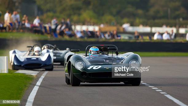 LolaChevrolet T70 Spyder driven by David Hart in The Whitsun Trophy at The Goodwood Revival Meeting 13th Sept 2014