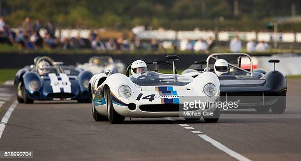 LolaChevrolet T70 Spyder driven by Marshall Bailey in The Whitsun Trophy at The Goodwood Revival Meeting 13th Sept 2014